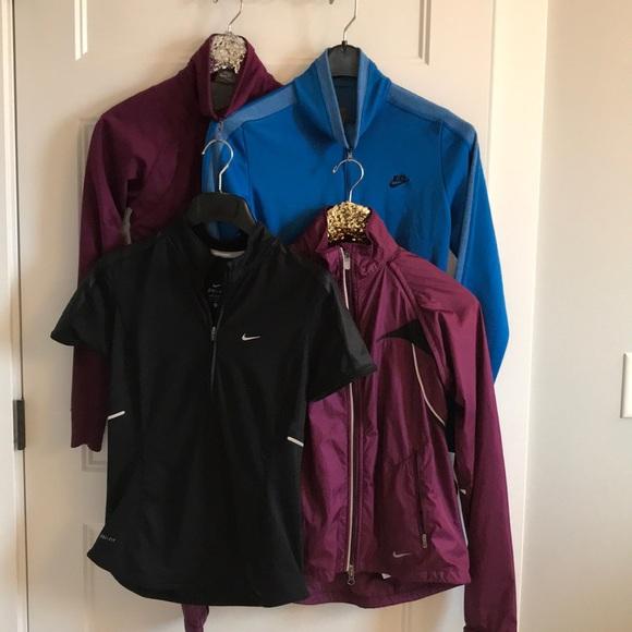 53c3fbb0bb77 Womens Lot Bundle Nike Small S Jacket Retro Look